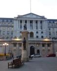 Die Bank of England.