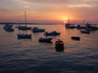 Die Sonnenuntergänge sind hier spektakulär. Dieser wurde in Fazana aufgenommen.