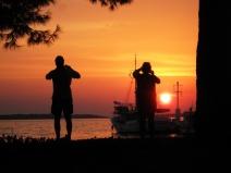 Touristenspektakel: Die Sonnenuntergänge in Istrien sind unvergleichlich.