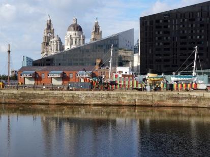 Teil der schönen Hafenanlagen Albert Dock.