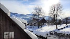 Blick aus dem Hotelfenster.
