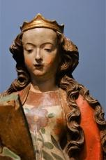 Hl. Katharina. Aus Oberrhein, evtl. Straßburg, um 1480.